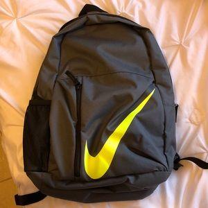 Gray Nike backpack